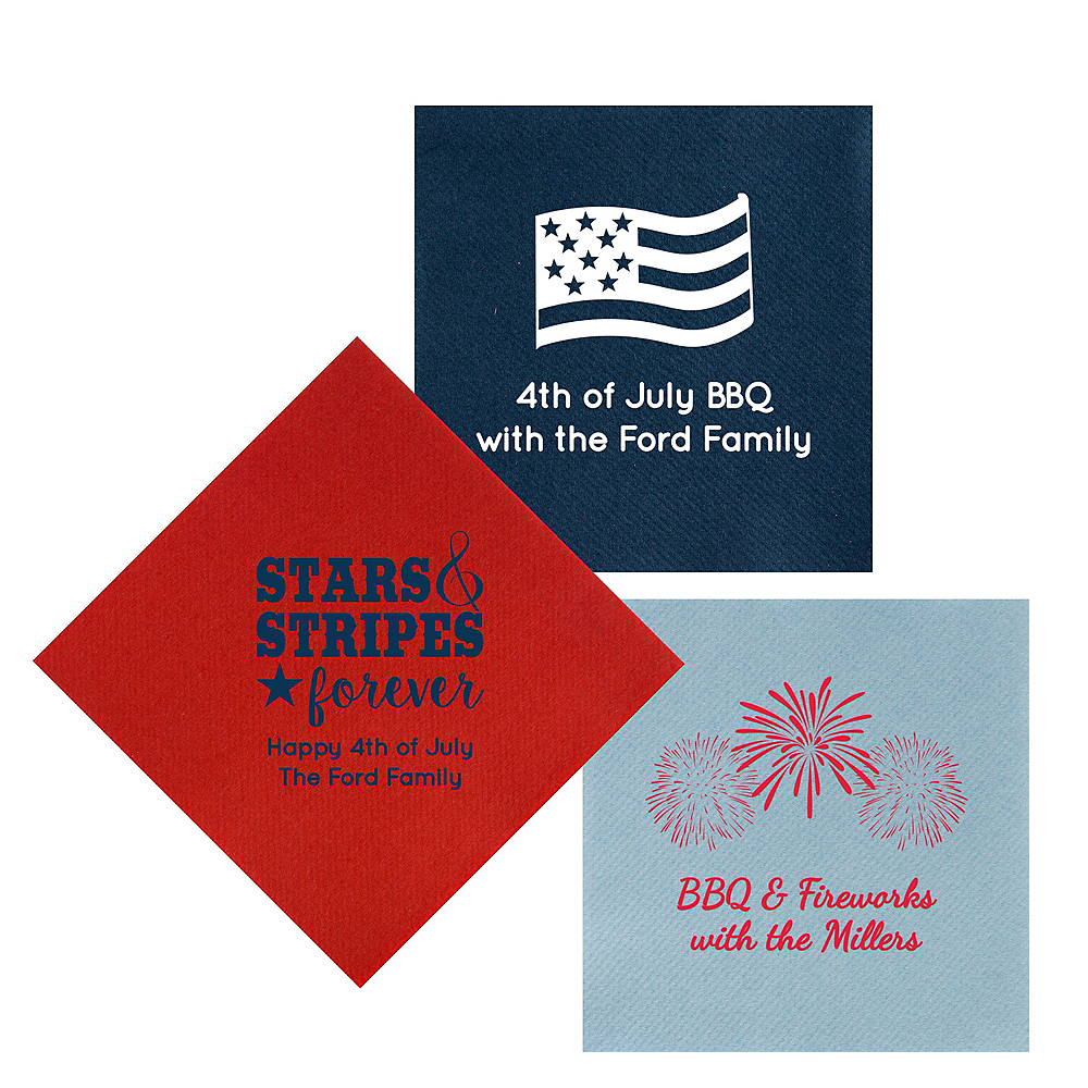 Personalized 4th of July Premium Lunch Napkins Image #1