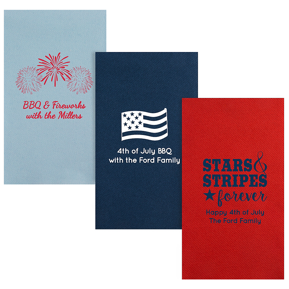 Personalized 4th of July Premium Guest Towels Image #1