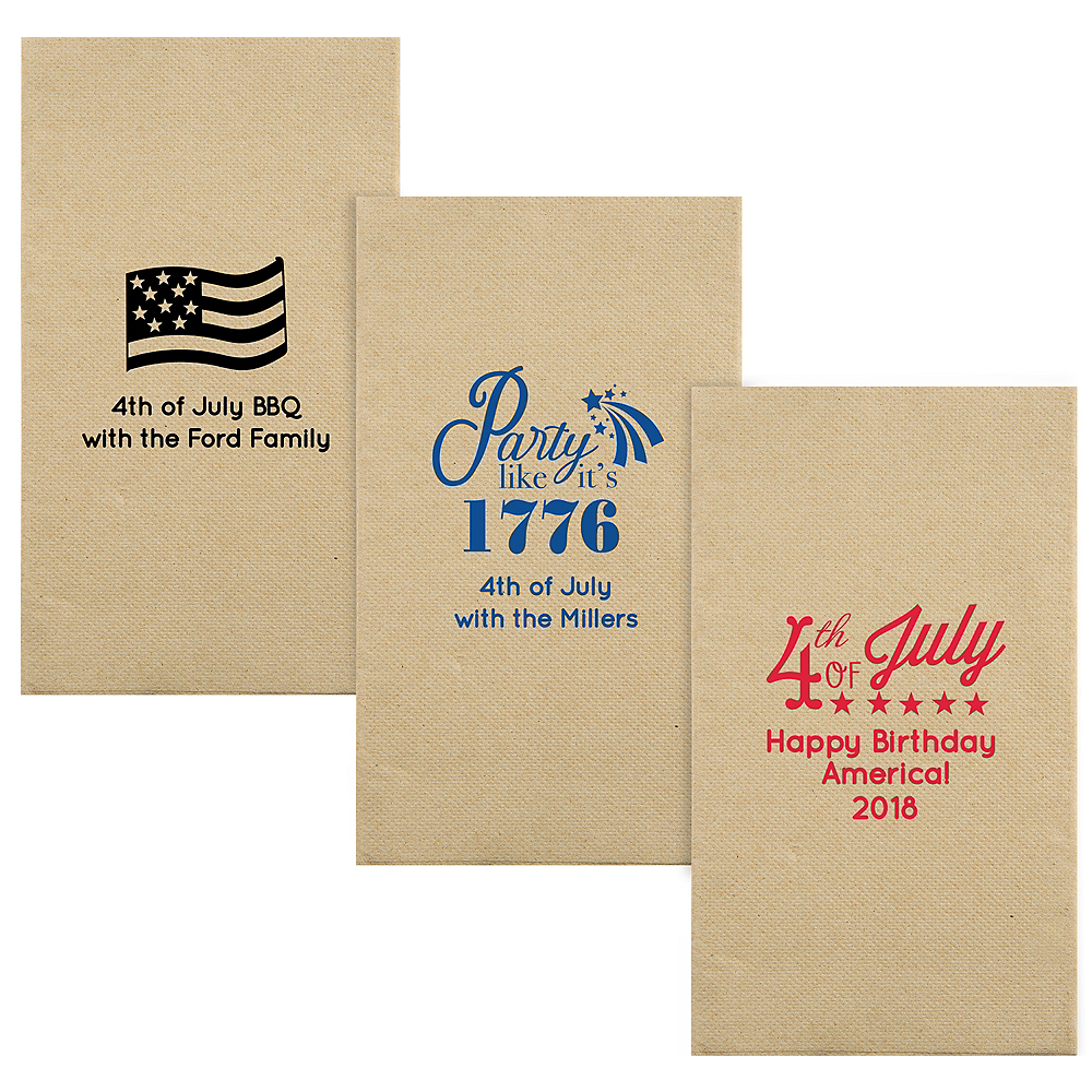 Personalized 4th of July Eco-Friendly Guest Towels Image #1