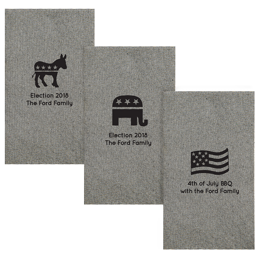 Personalized 4th of July Tweed Print Guest Towels Image #1