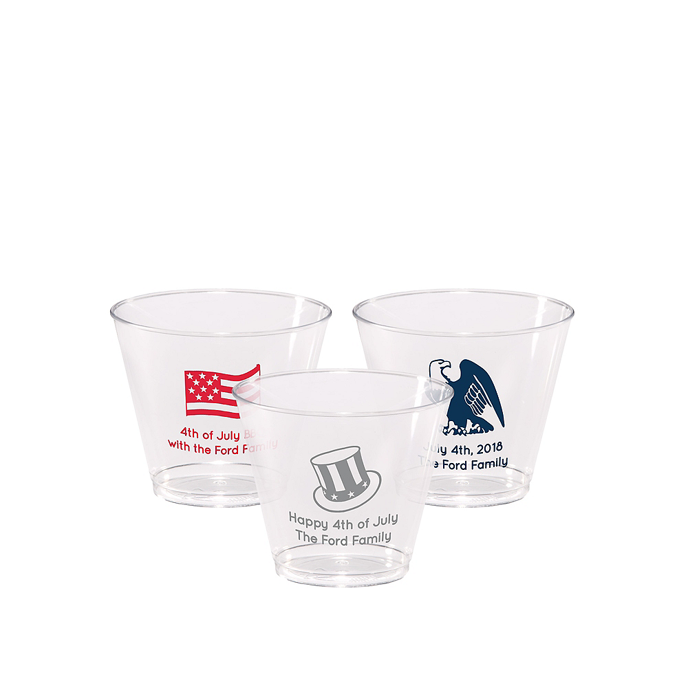 Personalized 4th of July Hard Plastic Cups 5oz Image #1