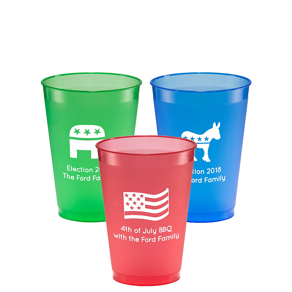 Personalized 4th of July Plastic Shatterproof Cups 12oz Image #1