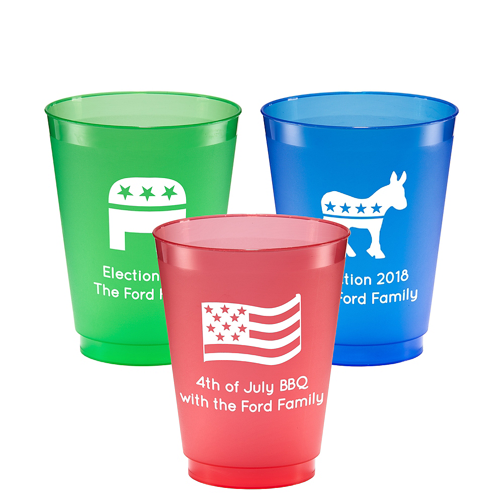 Personalized 4th of July Plastic Shatterproof Cups 16oz Image #1