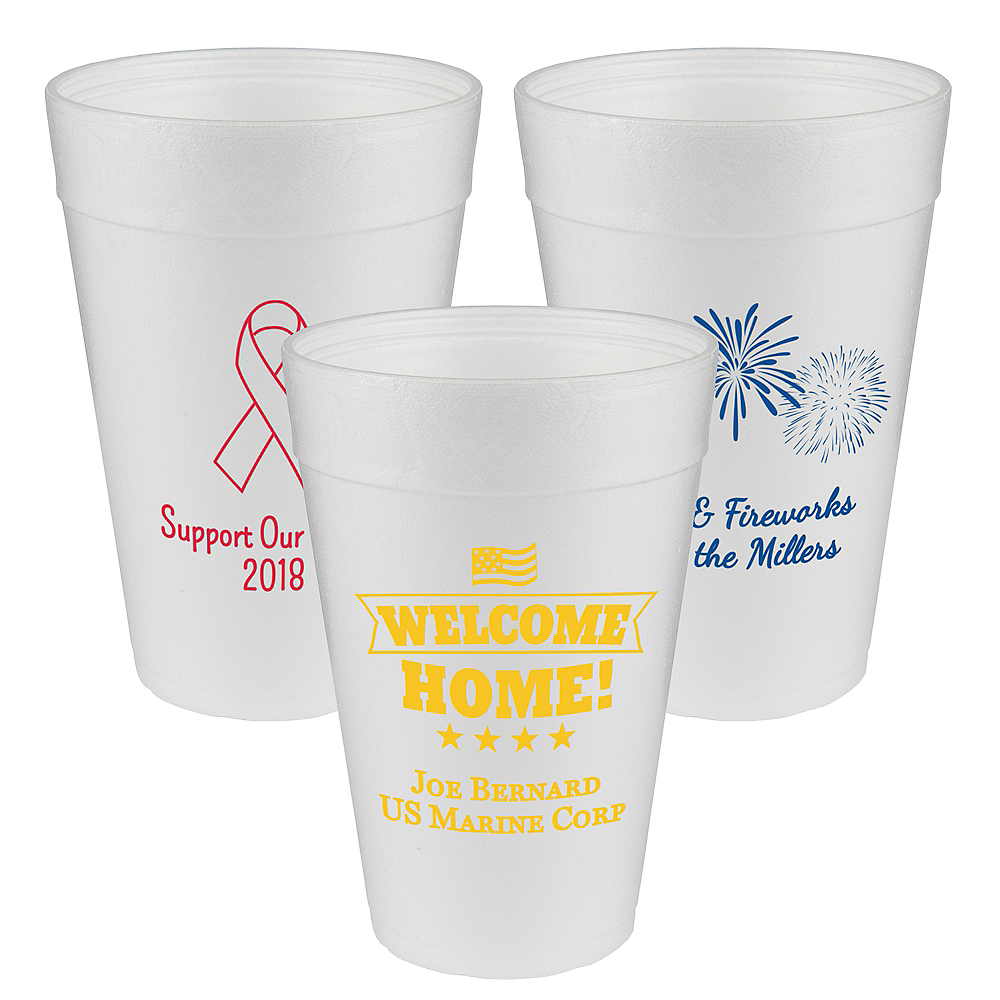 Personalized 4th of July Foam Cups 32oz Image #1