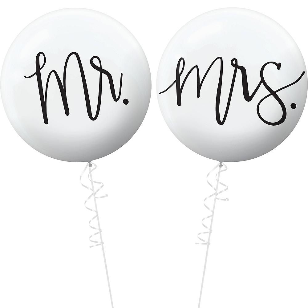 Mr. & Mrs. Wedding Balloons 2ct Image #1