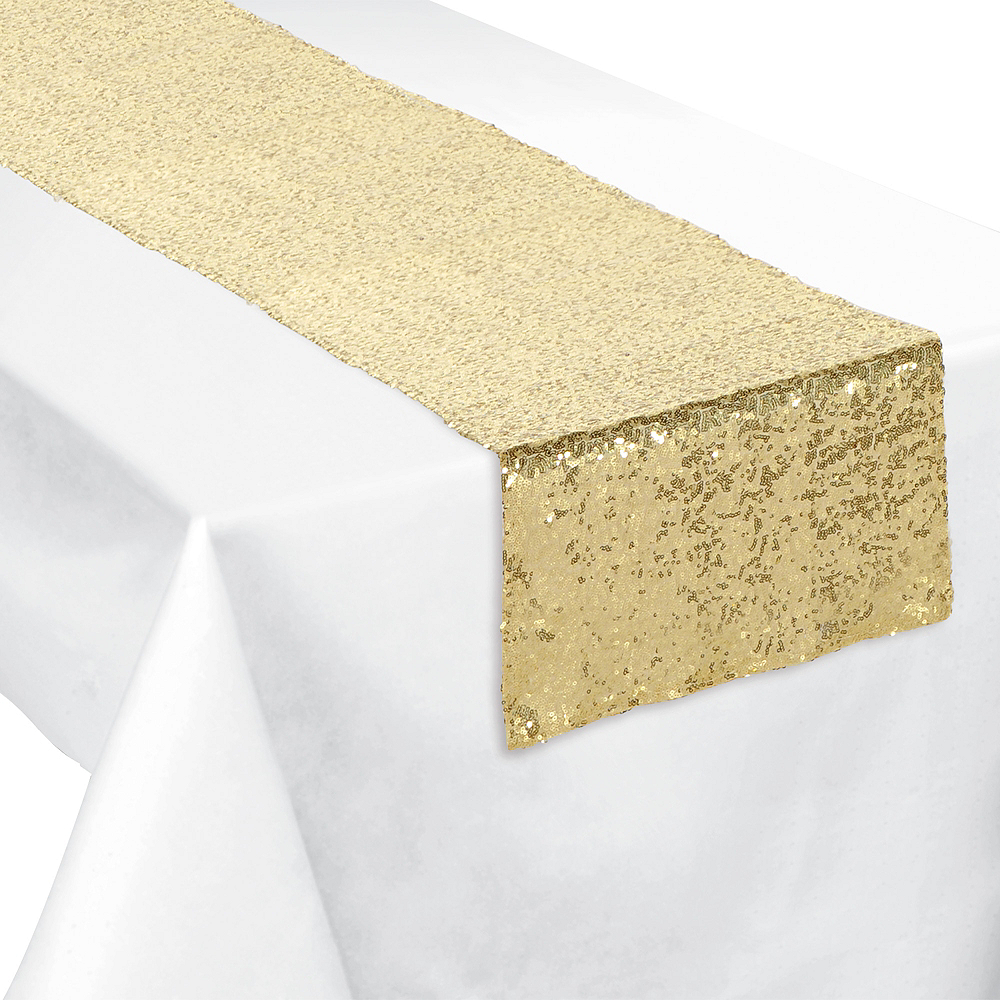 Nav Item for Gold Sequin Table Runner Image #1