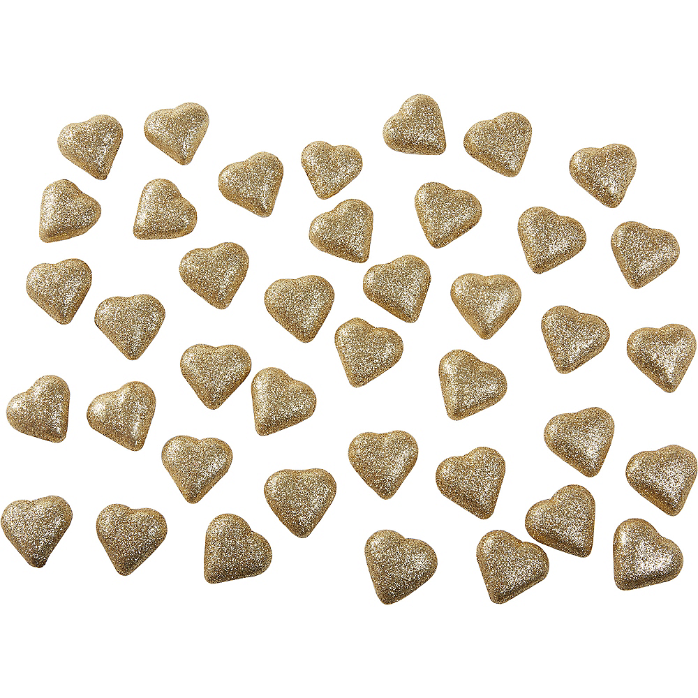 Nav Item for Glitter Gold Hearts Table Scatter 40ct Image #1