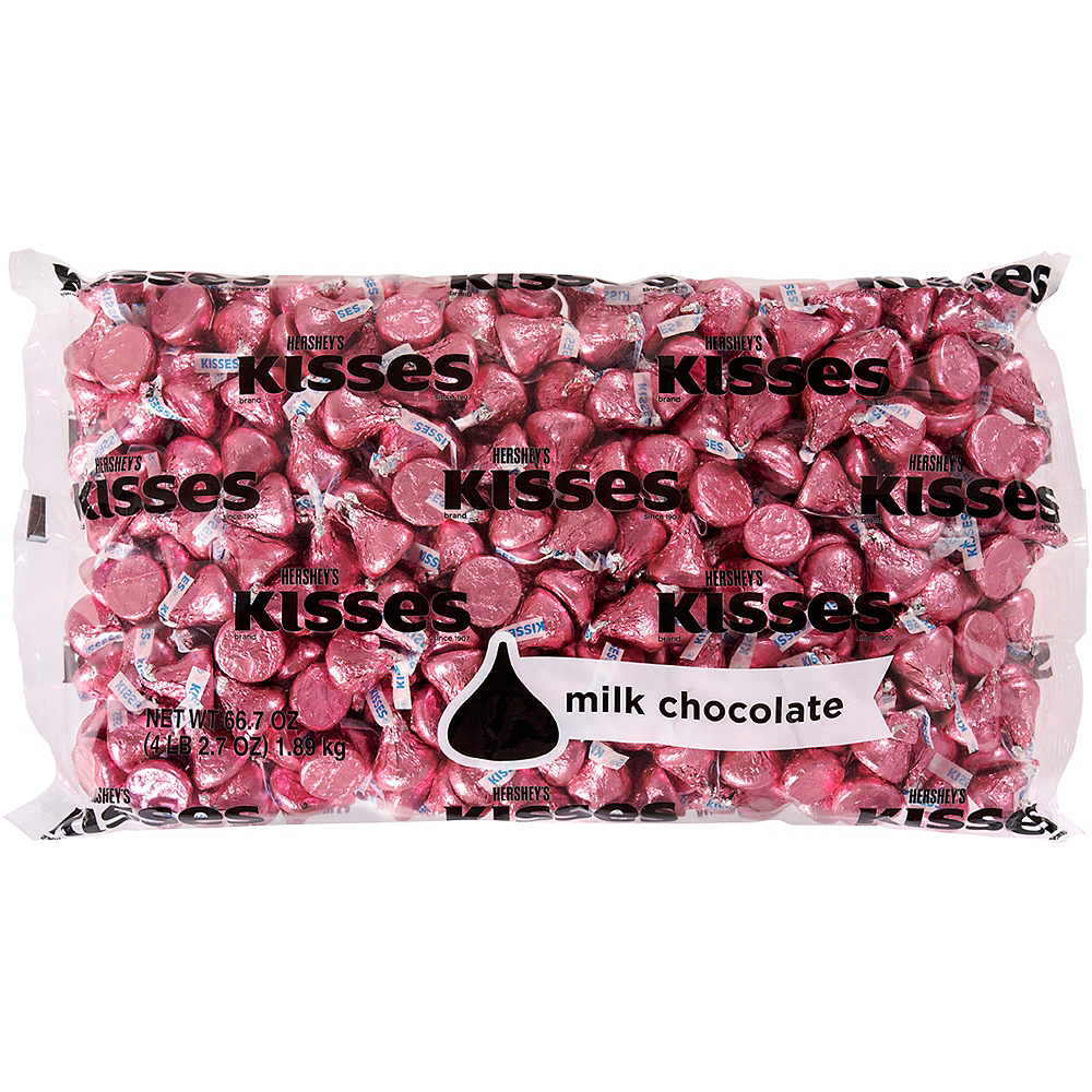 Pink Milk Chocolate Hershey\'s Kisses 410ct | Party City