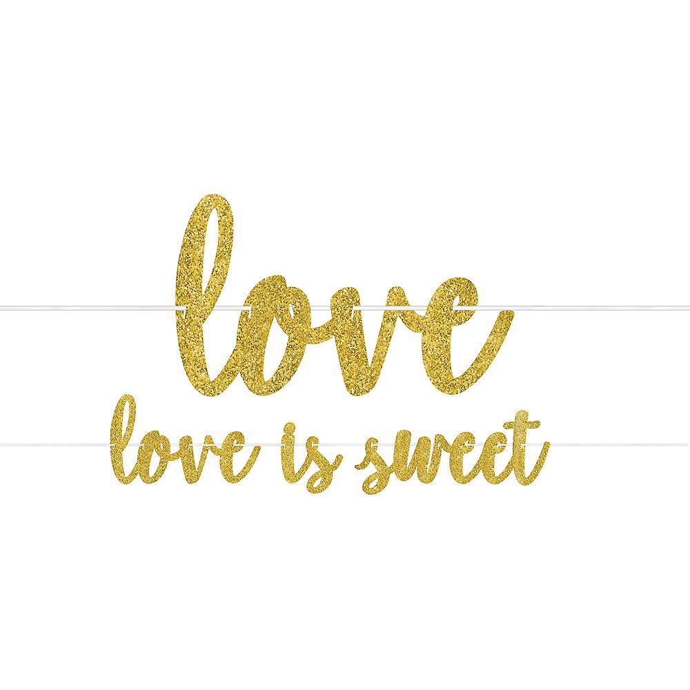 Glitter Gold Love Is Sweet Letter Banner Image #1