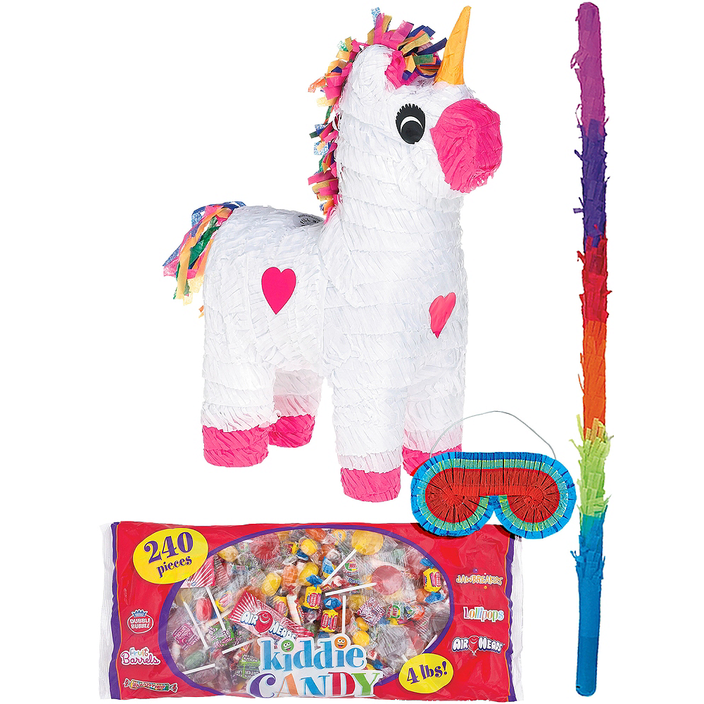 White Unicorn Pinata Kit Image #1