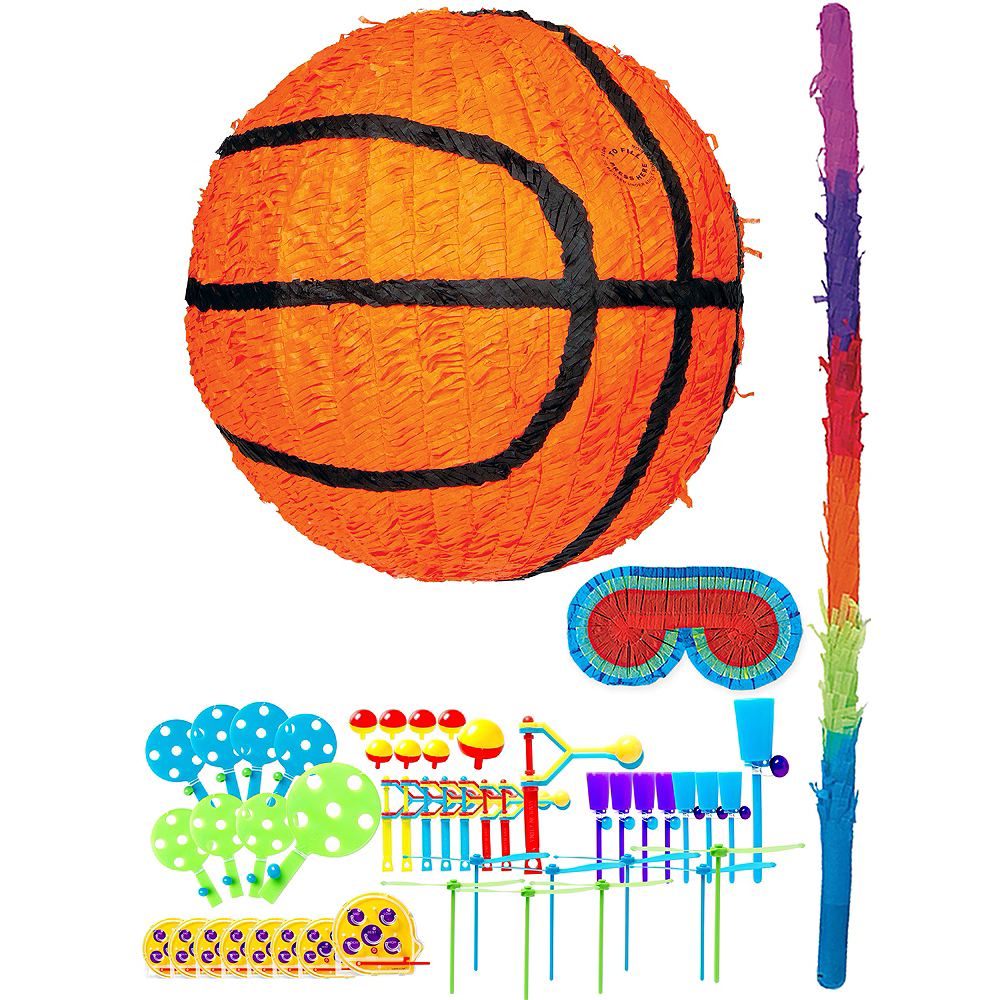 Basketball Pinata Kit with Favors Image #1