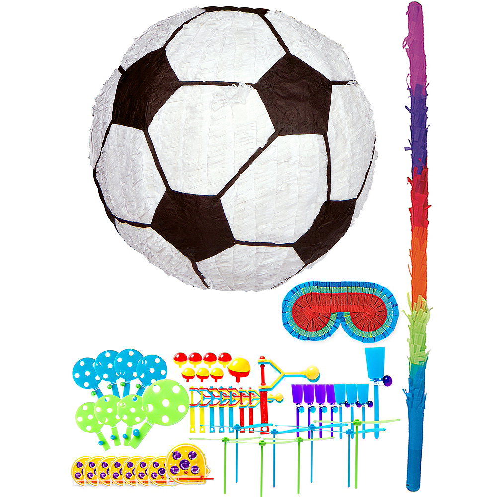 Soccer Pinata Kit with Favors Image #1