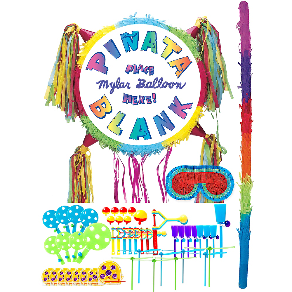 Add-a-Balloon Multicolor Pinata Kit with Favors Image #1