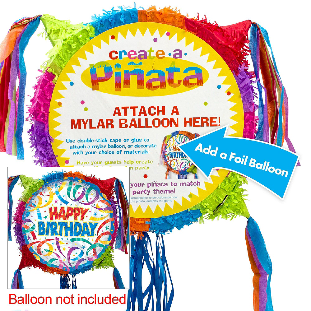 Add-a-Balloon Multicolor Pinata Kit with Favors Image #3