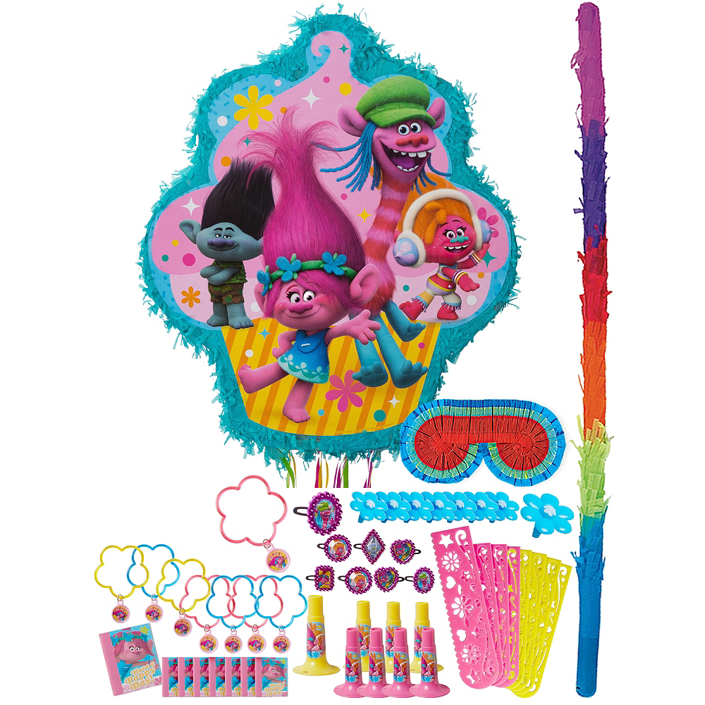 Trolls Pinata Kit with Favors Image #1