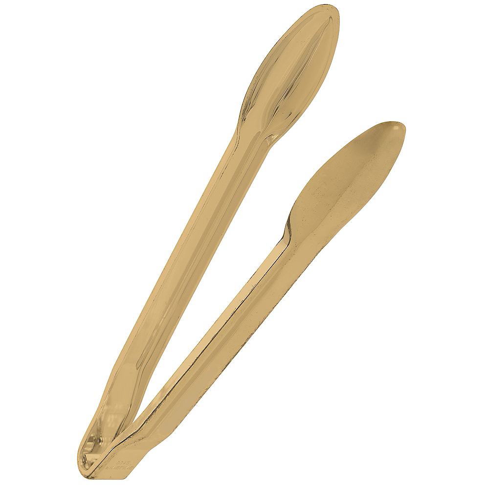 Gold Plastic Tongs Image #1