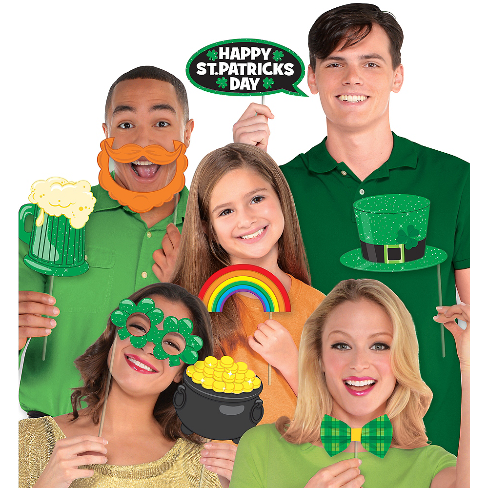 St. Patrick's Day Photo Booth Props 13ct Image #1