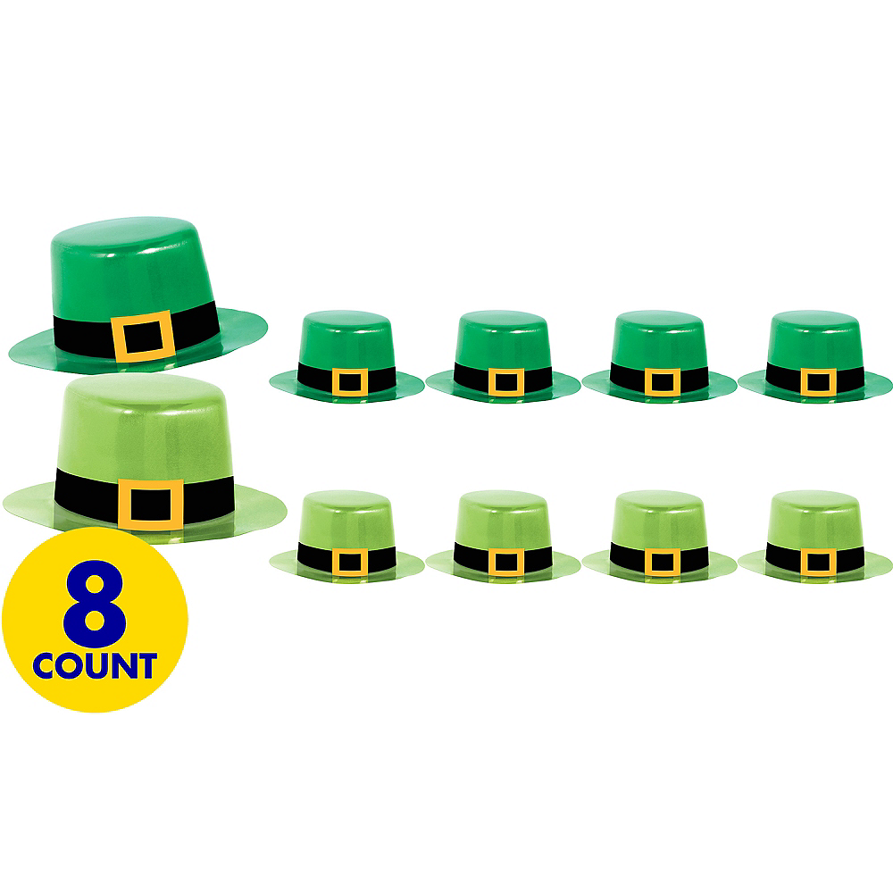 Leprechaun Top Hats 8ct Image #1