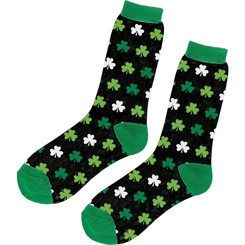 Adult Mini Shamrock Crew Socks Image #1