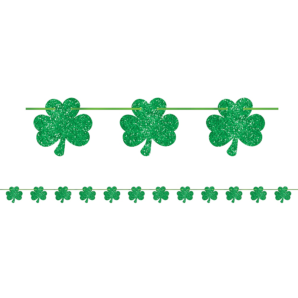 Nav Item for Glitter Shamrock Banner Image #1