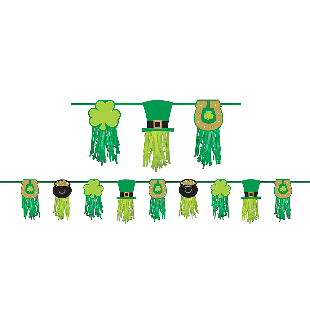 St. Patrick's Day Tassel Garland Image #1