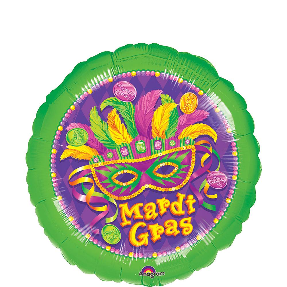 Masquerade Mardi Gras Balloon, 17in Image #1
