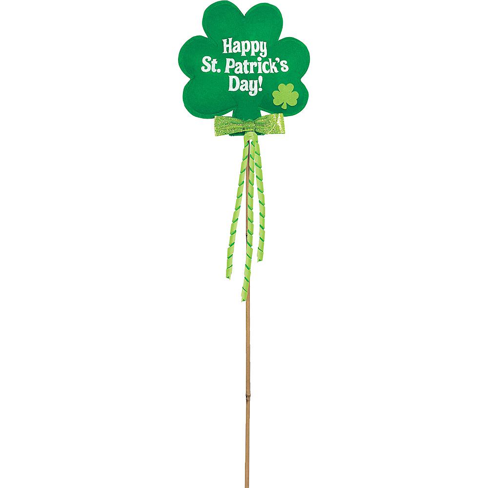 Shamrock Happy St. Patrick's Day Yard Stake Image #1