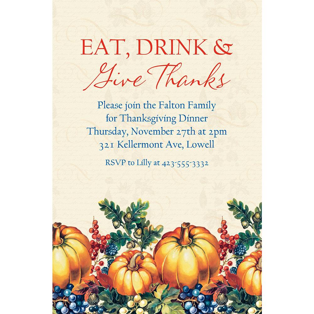 Custom Warm Harvest Fall Invitation Image #1