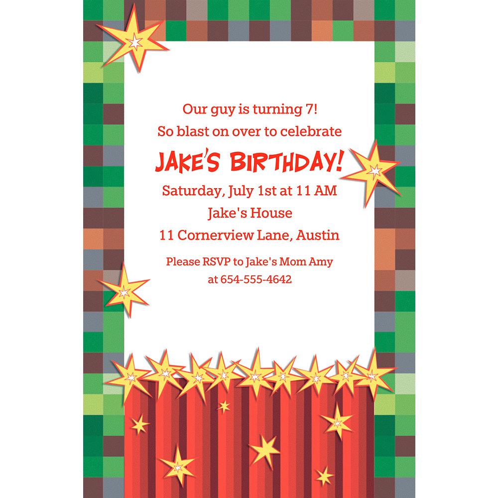 Custom Pixelated Invitation Image #1