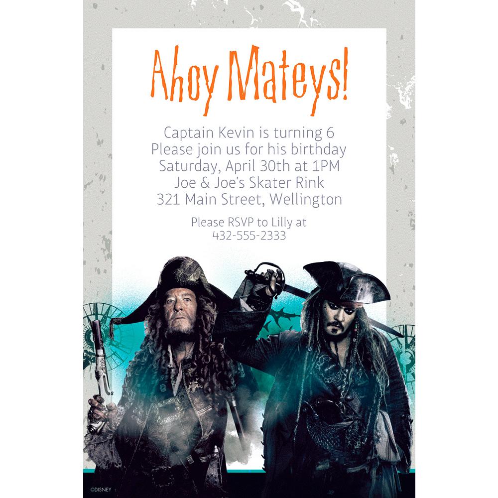 Custom Pirates of the Caribbean Invitation Image #1