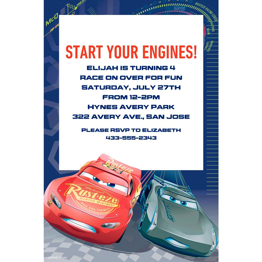 Custom Cars 3 Invitations | Party City