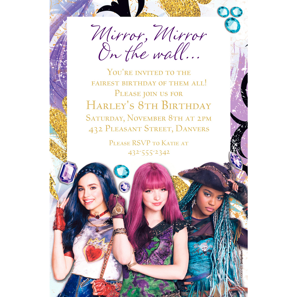 Custom Descendants 2 Invitation