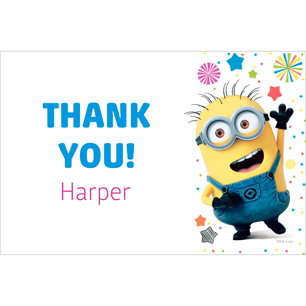 Custom Despicable Me 3 Thank You Note Image #1