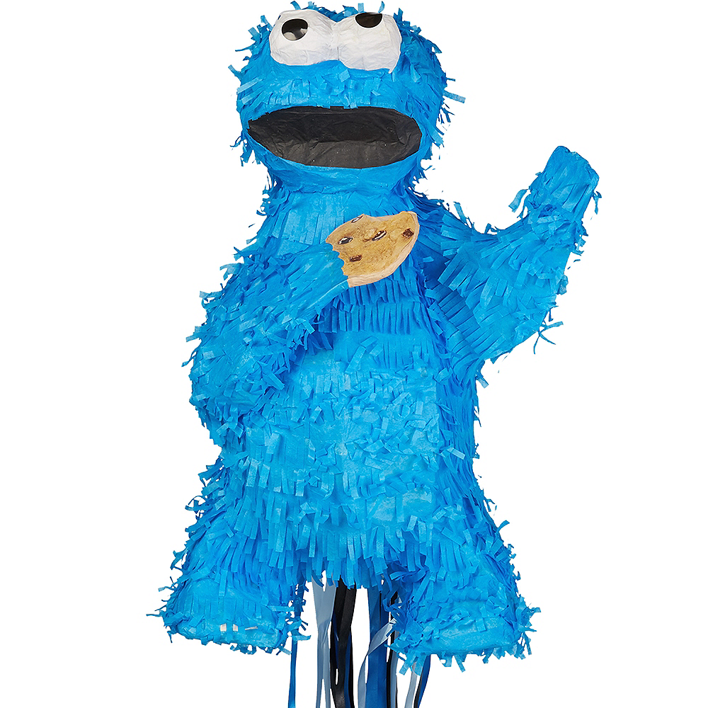 Pull String Cookie Monster Pinata Image #1