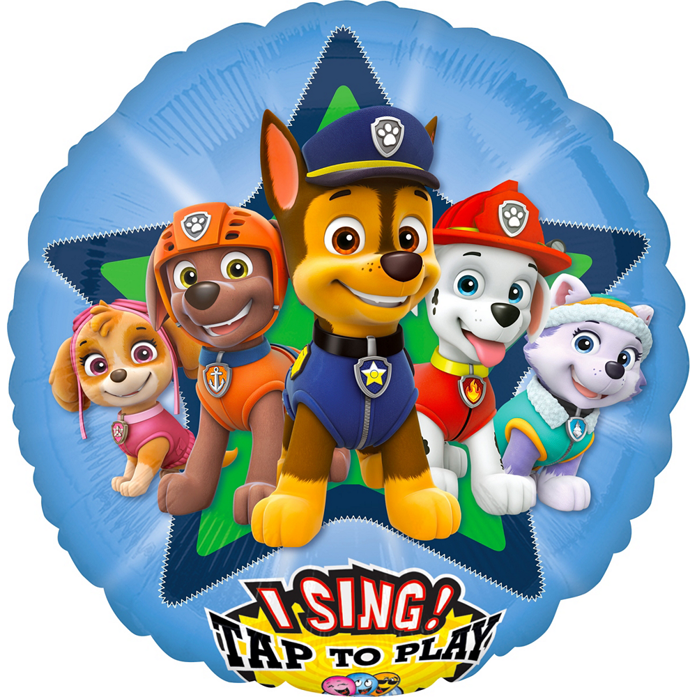 Singing PAW Patrol Balloon 28in | Party City