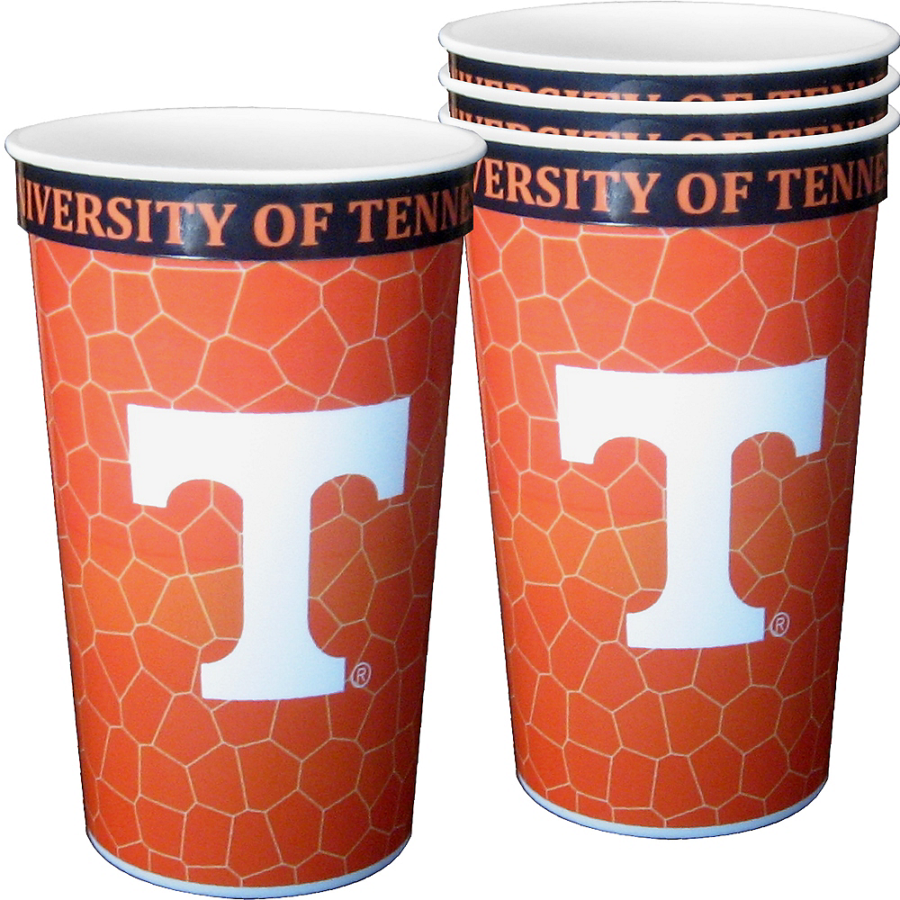 Nav Item for Tennessee Volunteers Plastic Cups 4ct Image #1