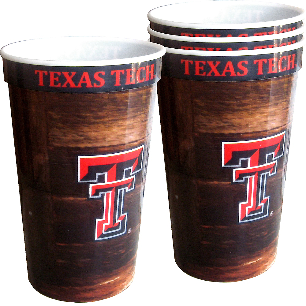 Texas Tech Red Raiders Plastic Cups 4ct Image #1