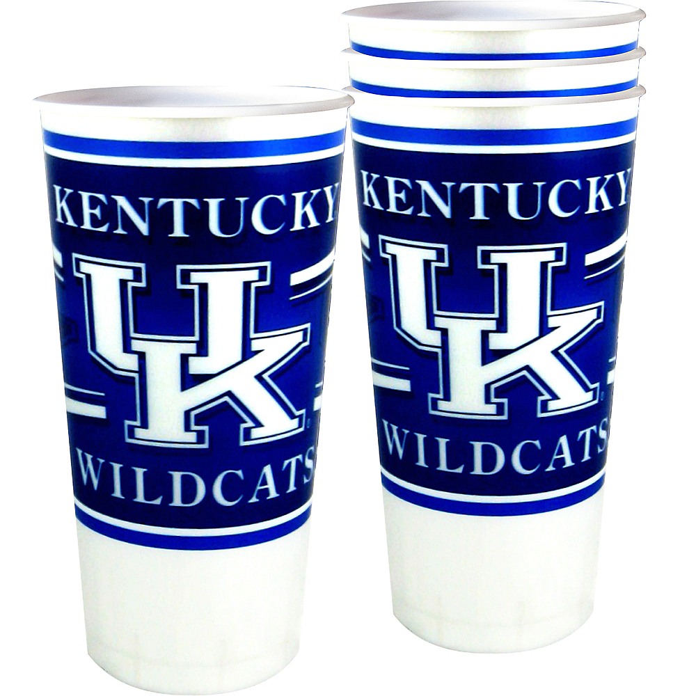 Kentucky Wildcats Plastic Cups 4ct Image #1