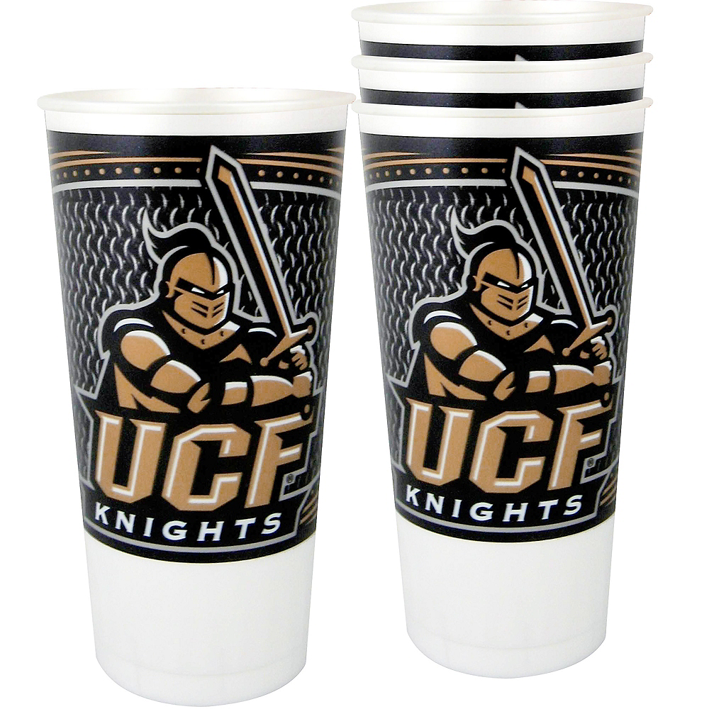 UCF Knights Plastic Cups 4ct Image #1