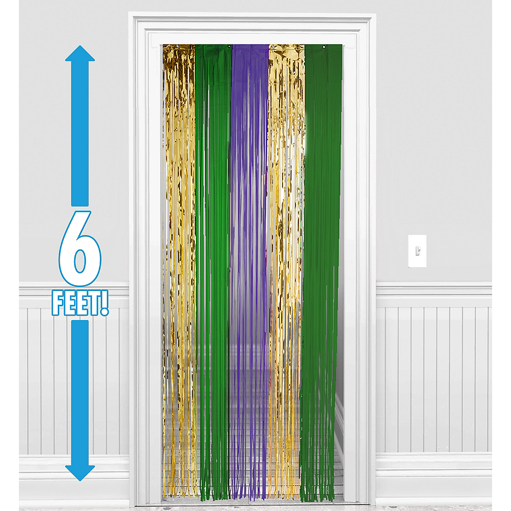 Metallic Mardi Gras Fringe Doorway Curtain Image #1