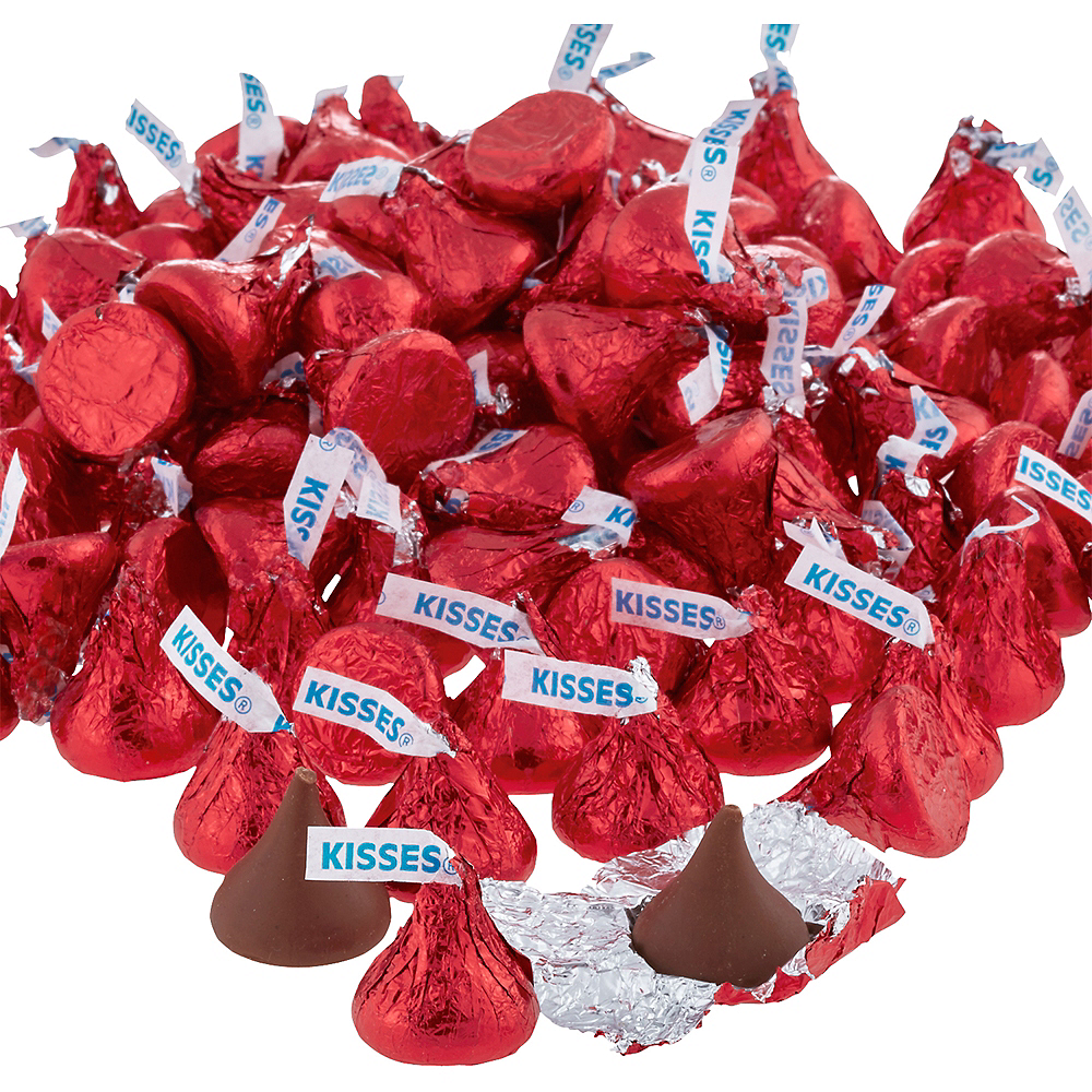 Red Milk Chocolate Hershey's Kisses 410ct Image #2