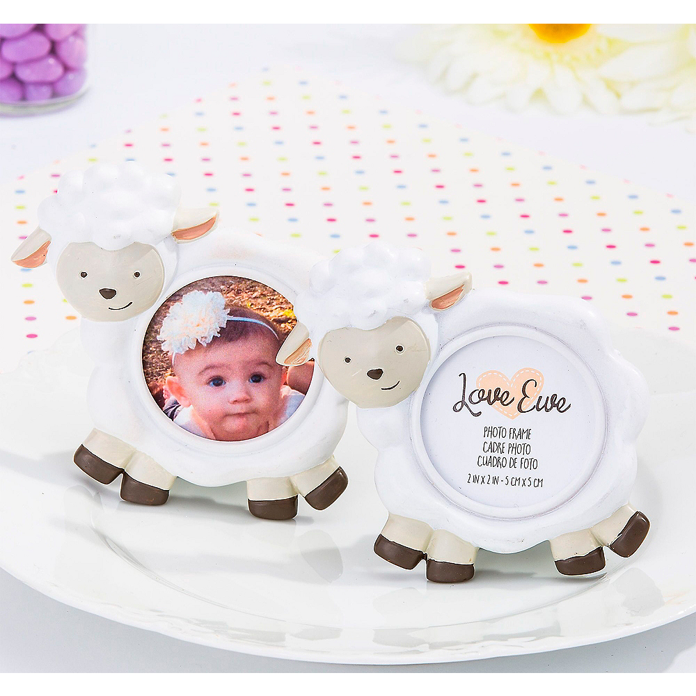 Baby Lamb Photo Frame Place Card Holders 6ct Image #1