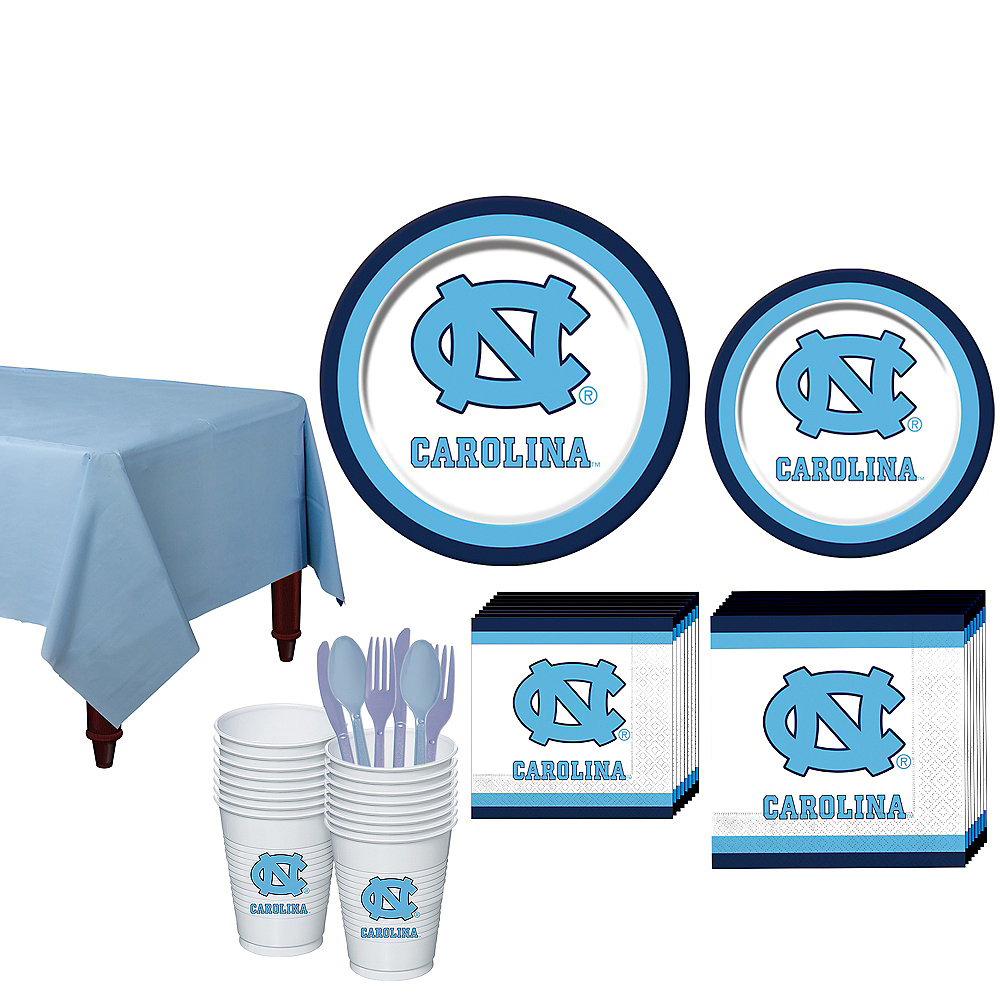 Nav Item for North Carolina Tar Heels Party Kit for 16 Guests Image #1