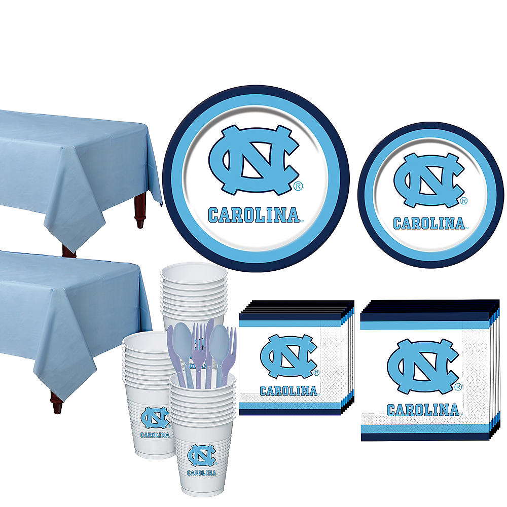 North Carolina Tar Heels Party Kit for 40 Guests Image #1