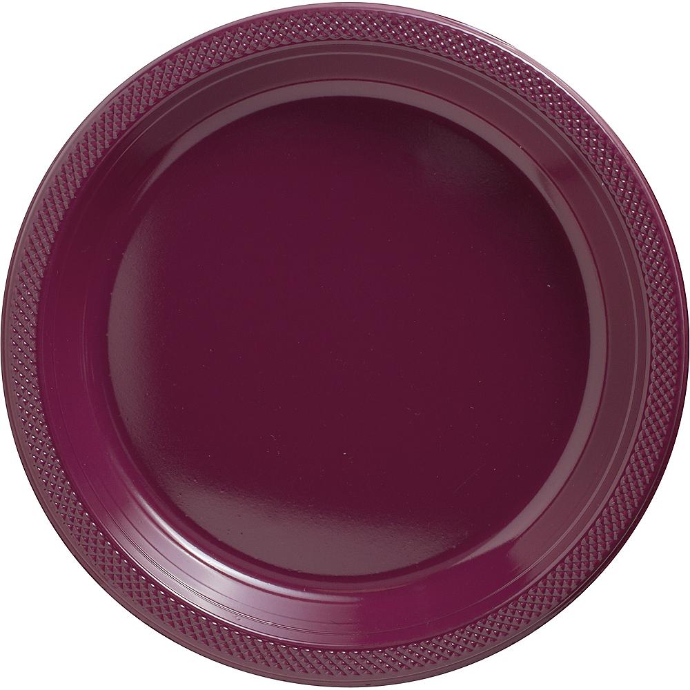 Berry Plastic Dinner Plates 20ct Image #1