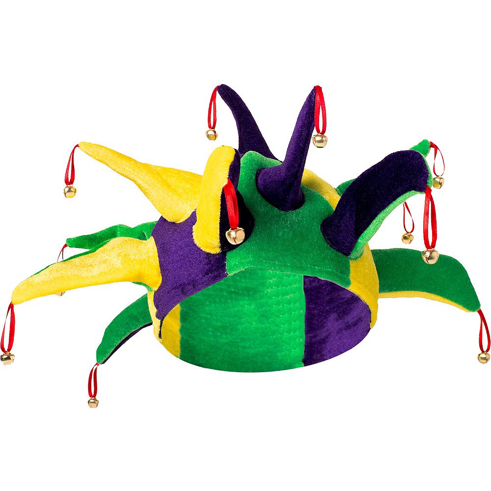 Jingle Bell Mardi Gras Jester Hat Image #1