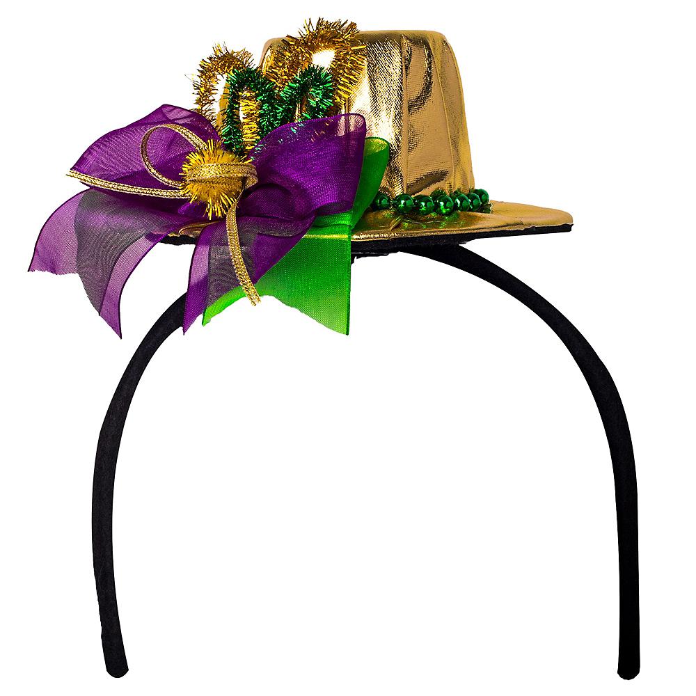 Mardi Gras Top Hat Headband Image #1
