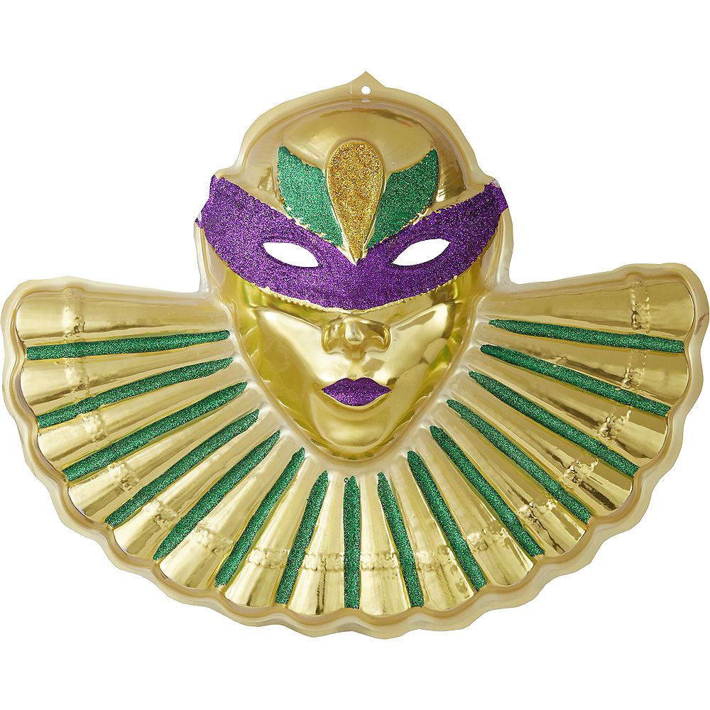 Glitter Mardi Gras Mask Sign Image #1