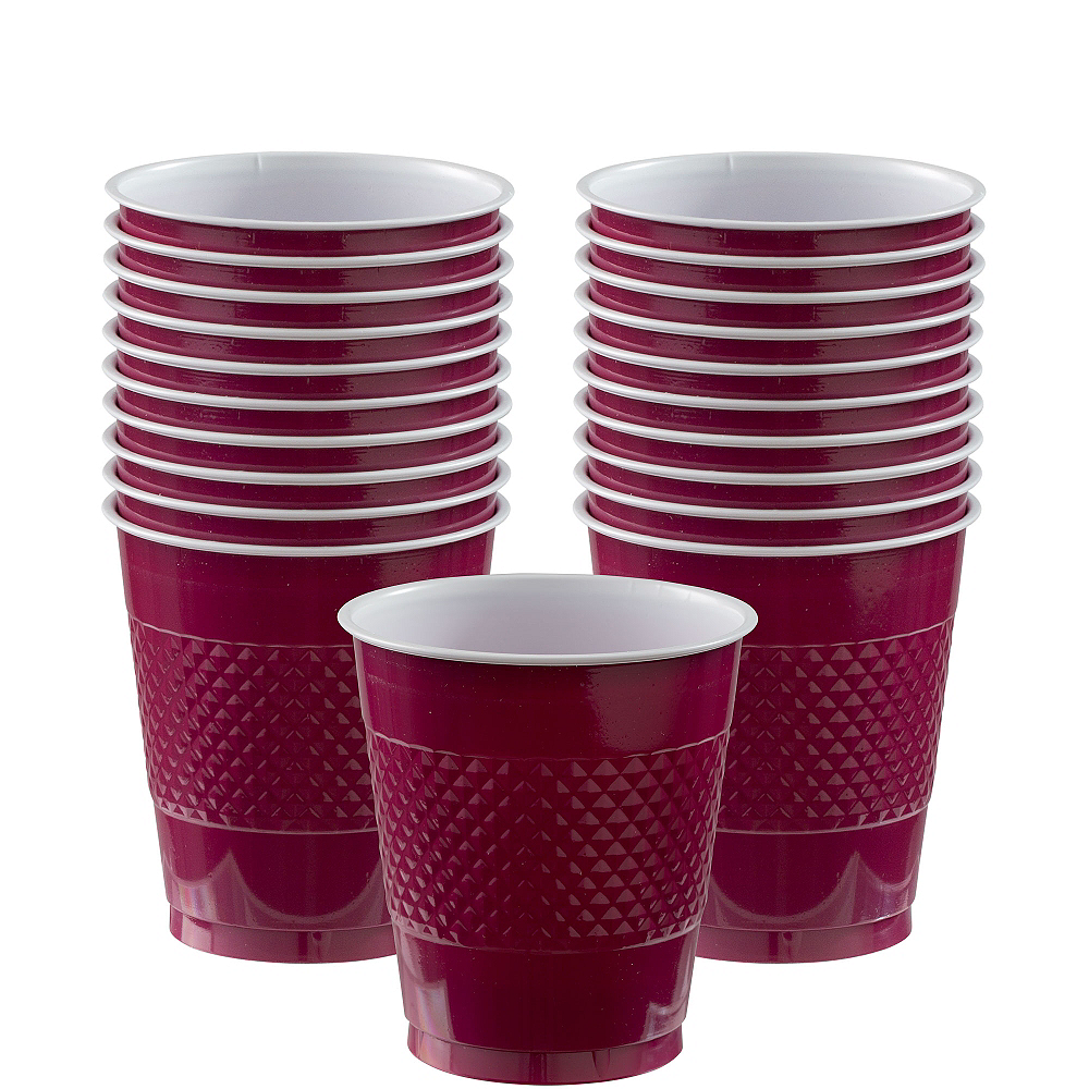 Berry Plastic Cups 20ct Image #1