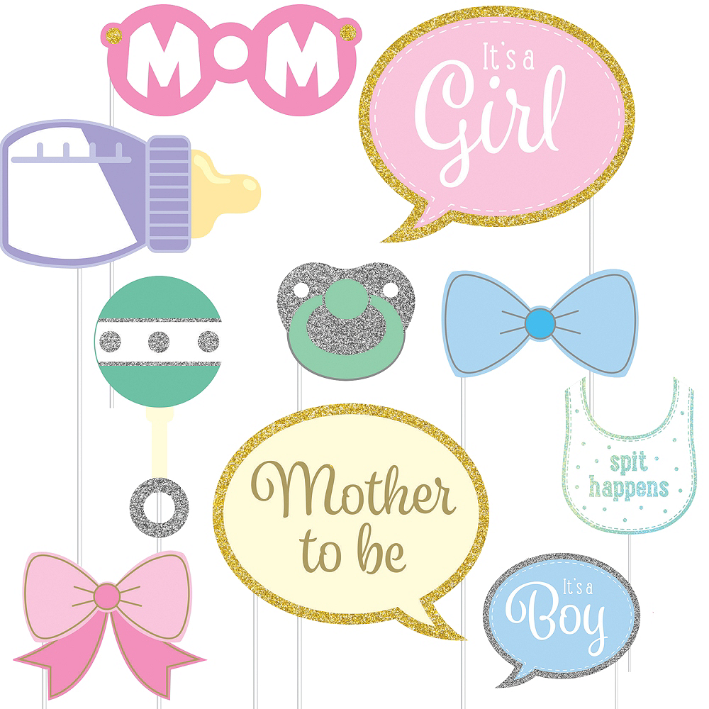 Baby Shower Photo Booth Props 10ct Party City Canada